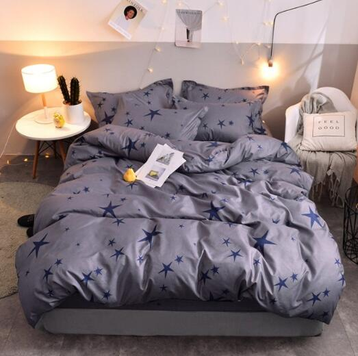 Bedding Set Blue Euro Bedspread Luxury Duvet Cover Double Bed Sheets Linens Queen King Adult Bedclothes