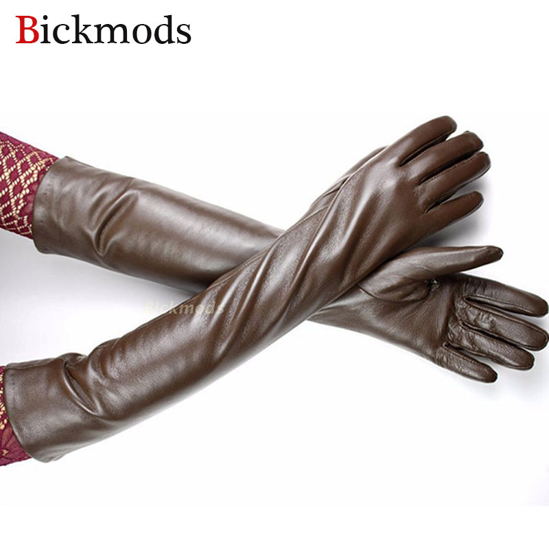 2017 New Long Leather Gloves Wo