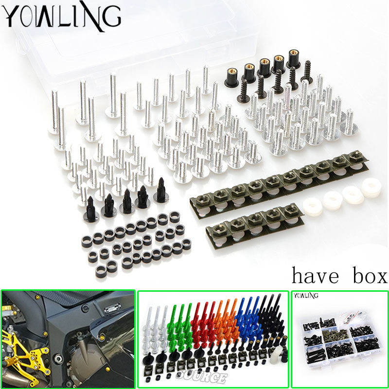 76PCS Motorcycle Accessories Windscreen fairing Screw Bolt FOR YAMAHA YZF R1 R6 R3 MT07 2005 2006 2007 2008 2009 2010 2011 2012