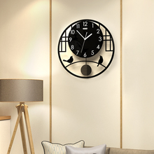 MEISD Swingable Creative Bird Silent Round Large Wall Clock Modern Design Living Room Hanging Quartz Clocks Watch Free Shipping