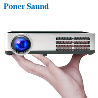 Poner Saund 600 DLP Mini Projector Android Proyector Shutter 3D WIFI Support Full HD 1080p HDMI Home Theater Projetor Bluetooth