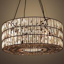 hot deal buy luxury vintage cristal chandelier indoor lighting crystal hanging light for home hotel restaurant living and dining room