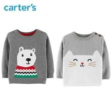Carter s Christmas Polar Bear Pullover Autumn winter long sleeve knitted sweater baby girl baby boys
