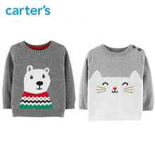 Who Carter's Polar Bear winter long sleeve knitted sweater baby girl baby boys