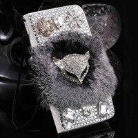 S3 Portemonnee Stand Flip PU Leer Diamant Case Voor Samsung Galaxy S3 III I9300 4.8