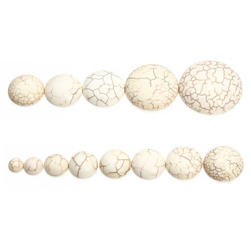 10ชิ้น/ล็อต6-30มิลลิเมตรครึ่งรอบธรรมชาติสีขาวลูกปัดลูกปัดF Latback Cabochonsลูกปัดfitสมุด3Dโดมจี้ทำF1402