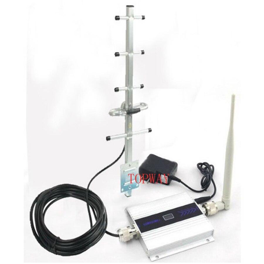 Teléfono móvil GSM amplificador de señal GSM repetidor de señal teléfono móvil GSM 900 MHz amplificador de señal con pantalla LCD yagi juego completo