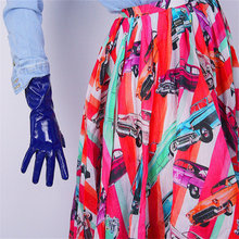 New 2019 Patent Leather Gloves Warm Female Synthetic Fashion Trend Womans PU For Party 28cm Long P61