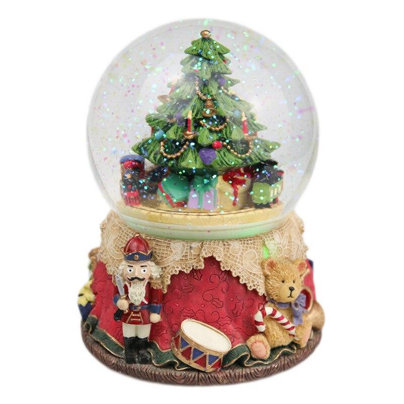 Boule de cristal ours arbre de noël boîte à musique manège boîte à musique envoyé bébé fille ami ami cadeaux de noël