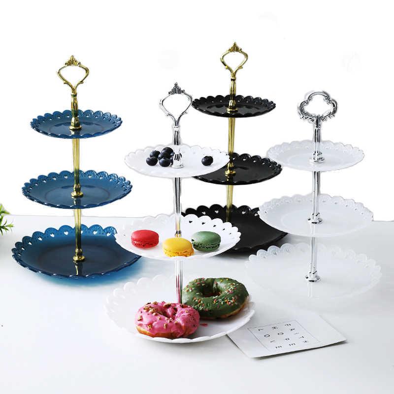 1 conjunto sem placa carrinho de bolo 2/3 camadas bolo de casamento placa sobremesa frutas vegetal colocado ferramenta festa aniversário cupcake suporte