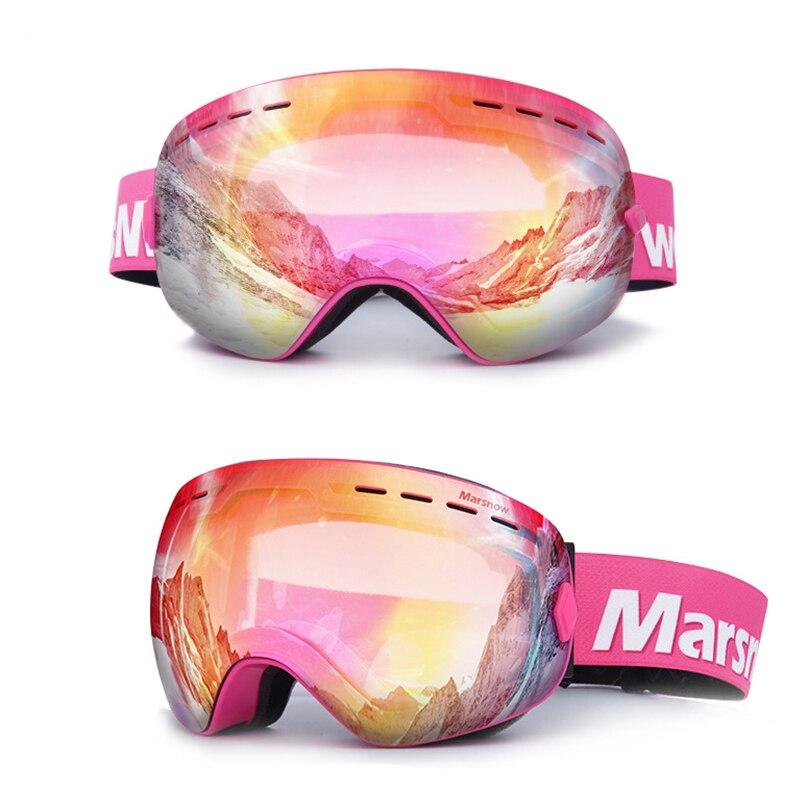 Marsnow lunettes de Ski Double UV400 Anti-buée lentille de Ski masque lunettes Ski hommes femmes enfants enfants garçon fille neige Snowboard lunettes - 2