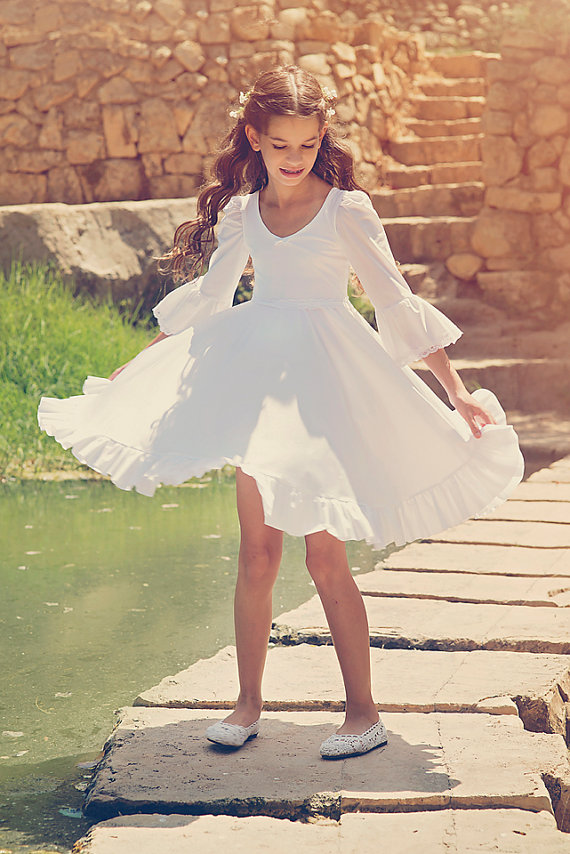 2017 First Communion Dress Stain Girls and Toddlers Wedding Dress White Flower Girl Dresses For Wedding Mother Daughter Dresses white flower girl first communion dress mint pink red little girls dresses wedding first birthday outfit girl gold lace dress