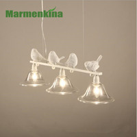 Creative Personality Warm Rustic Chandeliers Birds E14 Material Iron AC110 220V