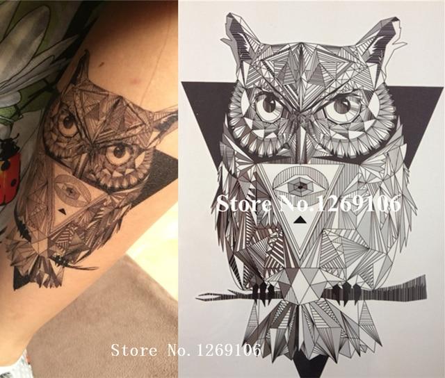 NOVO Design Simples CORUJA Preto e Branco 21X15 CENTÍMETROS de Tamanho  Legal Sexy Beleza Tatuagem Tatuagem 217889774020