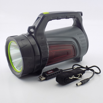 Super bright Powerful USB LED flashlight Searching torches 2 side night light lamp hand Camping lantern rechargeable battery 5