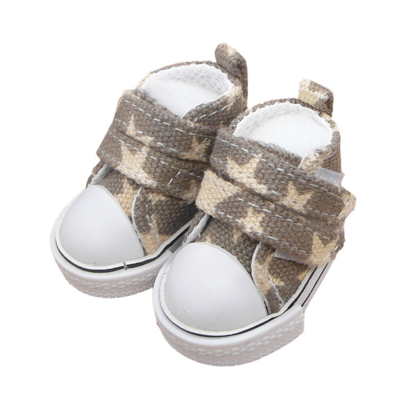 5cm Mini Doll Star Shoes For BJD Dolls,Fashion Canvas Casual Sneakers 1/6 Boots for Ball Joint Doll Doll Accessories One Pair 1pair new fashion sd bjd doll accessories casual shoes for bjd doll 1 4 1 3