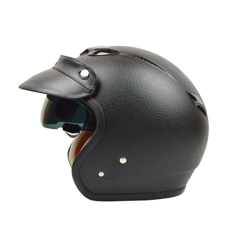 fashion halley vintage motorcycle helmet retro moto casco scooter open face helmet zeus 381c. Black Bedroom Furniture Sets. Home Design Ideas