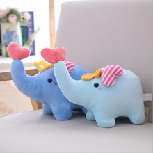 Lovely Little Elephant Plush Toy Stuffed Animal Soft Plush Doll Creative Gift Send to Baby Children new lovely plush gray elephant toy creative elephant doll boyfriend pillow doll about 120cm