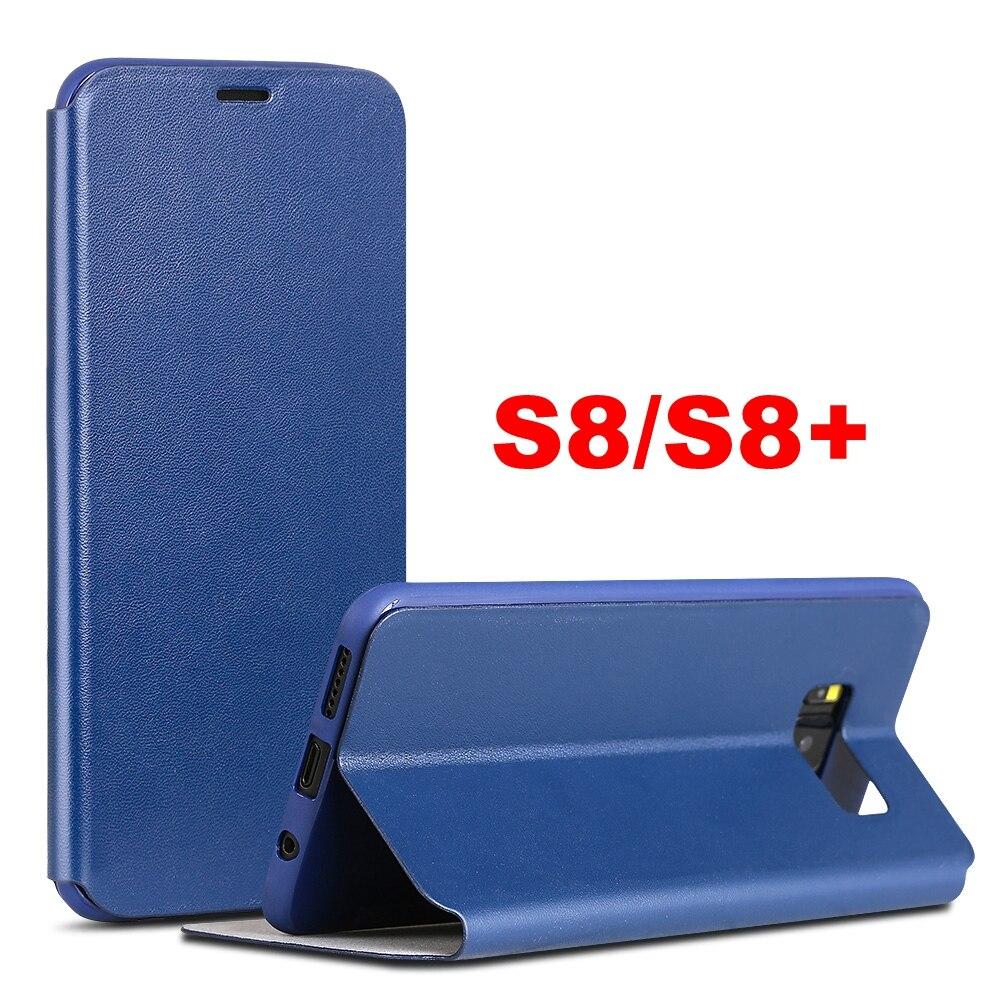 imágenes para Hot X Nivel Classic Flip Funda de Cuero Para Samsung Galaxy Plus S8 S8 s8 +