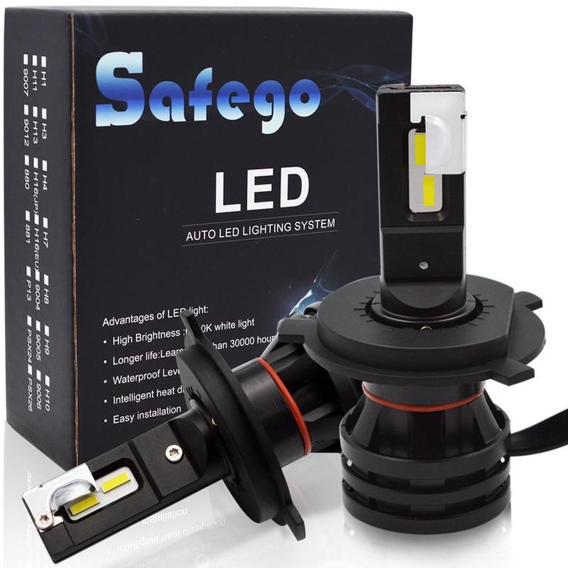 Safego 2pcs M2 LED H4 H7 H11 H8 H9 9005 Hb3 9006 Hb4 Car Headlight Bulbs Auto Car Styling 12000LM 6500K Headlamp 12V