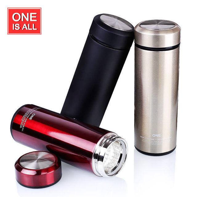 quality glass inner thermos bottle for water thermal tea cup heat coffee thermo mug vacuum flask - Glass Thermos