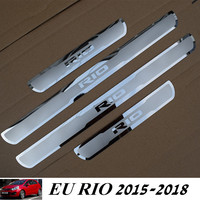 For NEW RIO 2015 2018 Stainless Steel Door Sill Scuff Plate For EU Kia Rio 2015