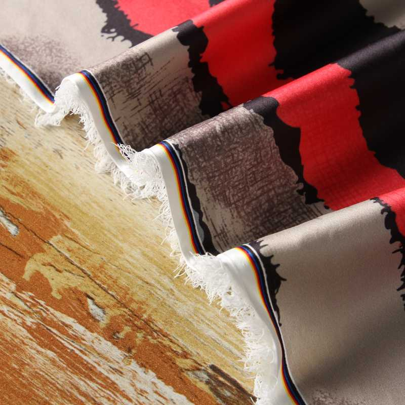 FYS56 50*140 cm Colorido Stripe Tecido De Seda Tecido De Seda Chinesa Para Cheongsam Canton Gambiered Gaze Tecido Lenço De Seda tecido DIY