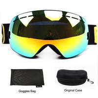 Benice Ski Goggles Double Lens UV Anti Fog Big Spherical Skiing Snowboarding Snow Glasses Eyewear 3100