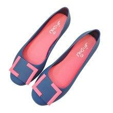 Nova Moda Das Mulheres Impressão Praia Sapatos Buraco Geléia Sapatos  Casuais Confortáveis Selvagens Mulheres Luz Material 1461b7efbc80
