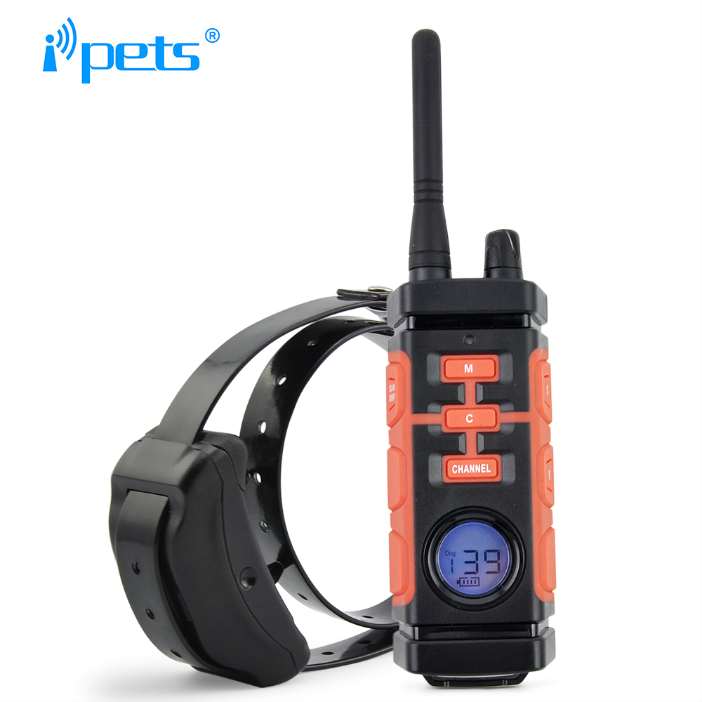 Ipets 616 1 800M Remote Dog Training Collar Rechargeable And Waterproof Vibration Electric Shock Collar Dog