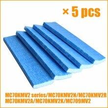 5 peças do purificador de ar dos pces filtro para a série mc70kmv2n mc70kmv2r mc70kmv2a mc70kmv2k mc709mv2 de daikin filtros do purificador de ar