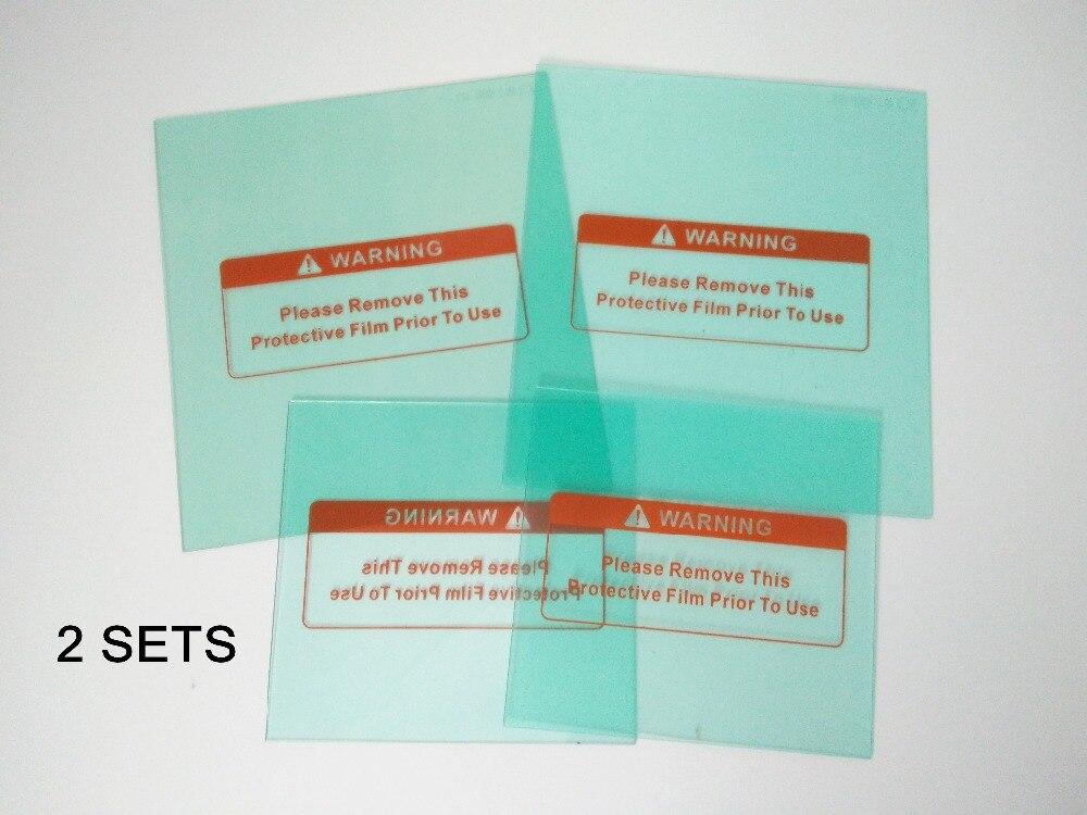 Deux Ensembles de protection plaque en plastique (PC) de la EF10194 auto assombrissement masque de soudage/soudage filtre/de soudage casque