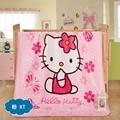 Kitty! flanela Cobertor Do Bebê Recém-nascido Dos Desenhos Animados da Pele Do Falso Super Macio Cobertores 70x100 cm Para Camas de Crianças Quentes Grossas de Lã lance