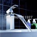 La alta calidad de latón cascada cuenca del grifo baño grifo mezclador torneira banheiro grifo de agua caliente y agua fría KF29