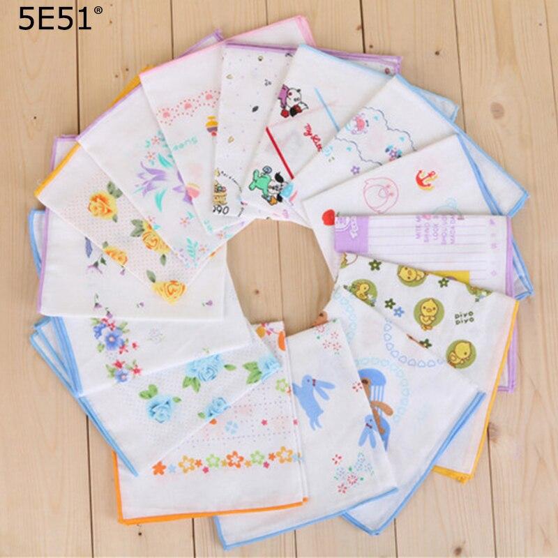 Baby Saliva Towels Handkerchief Cotton 100%/cartoon Printed 35cm/Many Uses