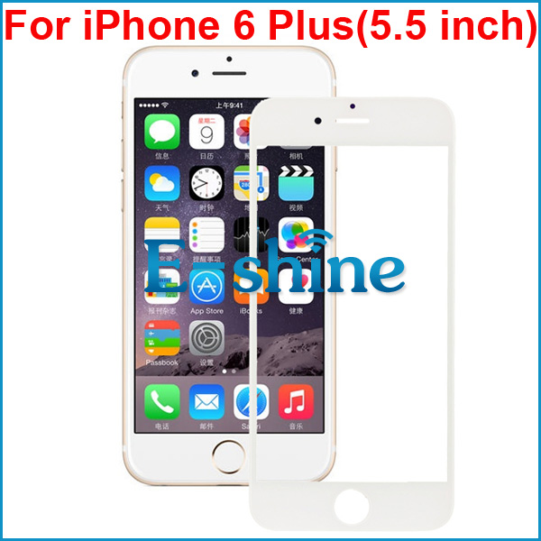 For iPhone 6/6S Plus Outer Front Glas Touch Screen Digitizer Replacement Cover Black and White for iPhone6 Plus 6S Plus ...