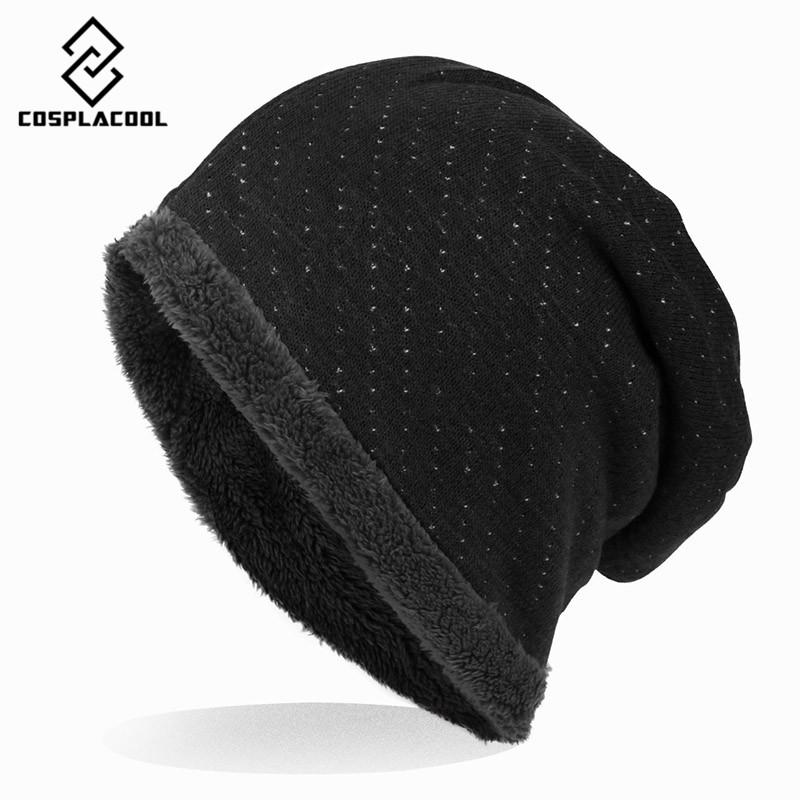 COSPLACOOL 2016 Skullies  Beanies new sets head men women knitting wool hat knitted hat all-match hat fashion tide skullies hot sale candy sets color pointed hat knitting hat sets hat cap 1866951