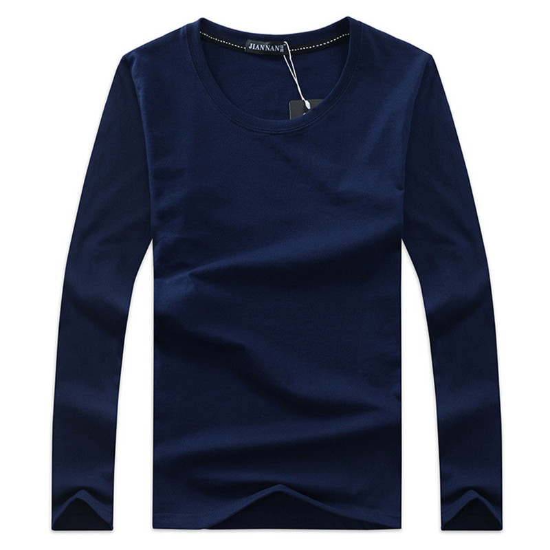 T1287-A1128 Cheap wholesale 2018 spring autumn new DIY to figure custom men's pure color long sleeve T-shirt