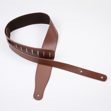 "41 ""wide guitar strap Piga soft and comfortable electric guitar electric bass guitar back-bandwidth6.5- 7 cm BD-880 brown"