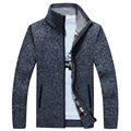 New Arrival Sweater Men Spring Fashion Pull Homme Casual Slim Fit Long Mens Cardigans Sweaters Solid Color Zipper Brand Sweater
