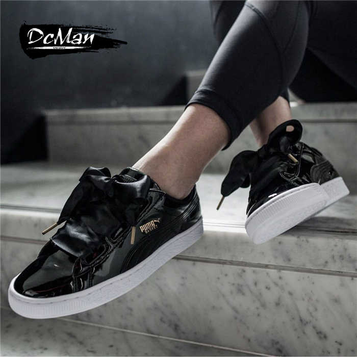 6792a87168a7 2018Original PUMA Basket Heart Patent Women s Sneakers Suede Satin  Badminton Shoes size 36-39