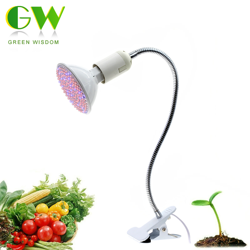 LED Grow Light with 360 Degrees Flexible Lamp Holder Clip LED Plant Growth Light for Indoor or Desktop Plants. цена и фото