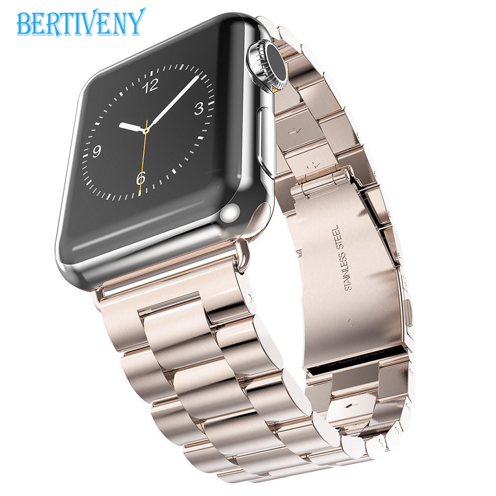 Stainless Steel Strap for Apple Watch band 42mm 38mm 44mm 40mm Link Bracelet metal Wrist watchband for iwatch series 4 3 2 1 case link bracelet strap for apple watch 4 3 2 1 44mm 40mm band stainless steel metal buckle watchband iwatch series 42mm 38mm