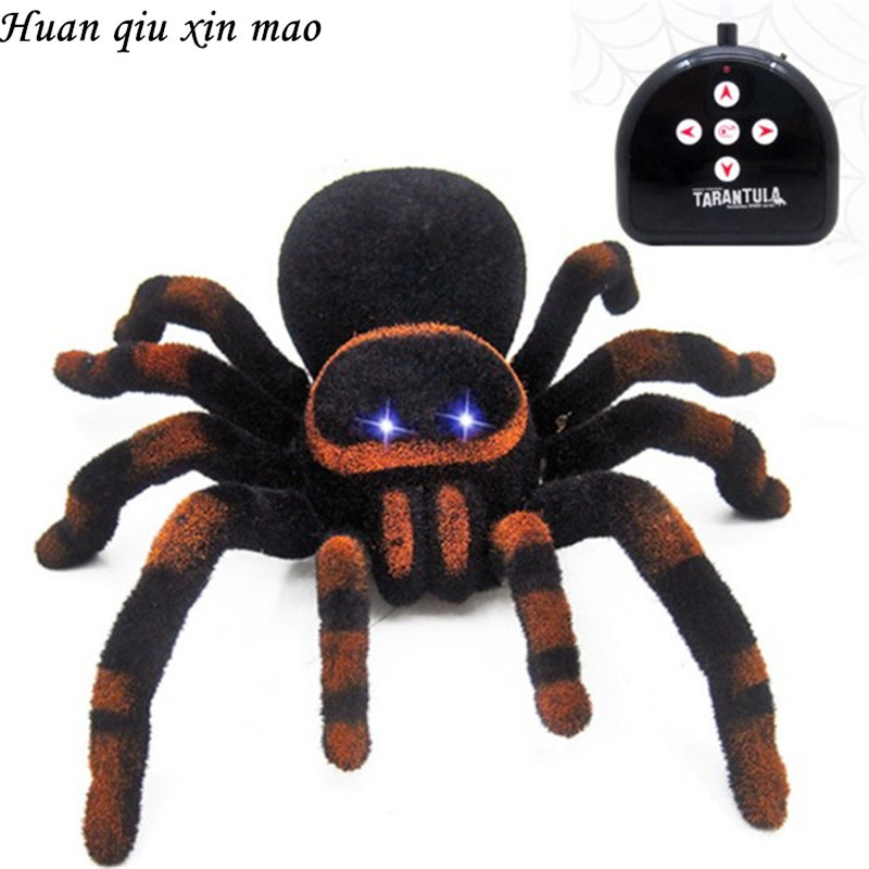 Tricky toy spider Remote Control 11'' 4CH Realistic RC Spider Scary Toy Prank Holiday Gift Model