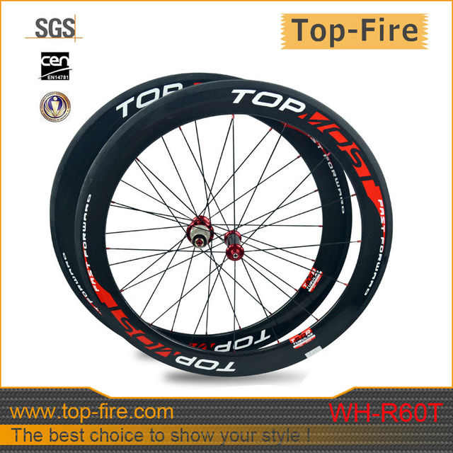 bike full carbon wheels 60mm full carbon wheelset tubular wheels with 700C road bicycle wheels 20/23/25mm width WH-R60T