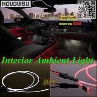 NOVOVISU For Renault Kangoo Car Interior Ambient Light Panel illumination For Car Inside Tuning Cool Refit Light Optic Fiber