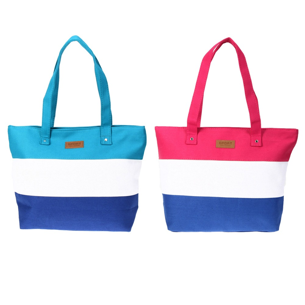 2017 Ladies Stripes Print Canvas Shoulder Bag New Hot Women Messenger Bags Handbag Brand Totes Casual Shopping Bolsa Feminina brand new 2016 hot sale helper plastic handbag hook hanger bag holder for shopping bags