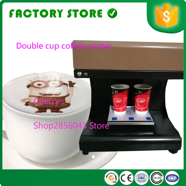 Double Cup Coffee Printer Automatic Latte Art Printing Machine