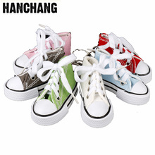 74d54139c32a82 Cute 3D Sneaker Tennis Keychain Mini Canvas Shoes Keyring Accessories Candy  Color Sport Shoe Jewelry For