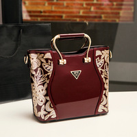 New 2017 Women Handbags Sequery Embroidery Luxury Patent Leather Famous Brand Designer Shoulder Bags Women Messenger